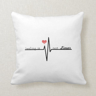 Healing Is Not Linear- Mental Health Pillow