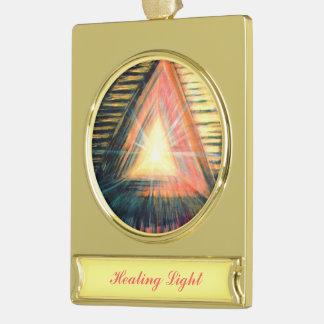 Healing Light Gold Plated Banner Ornament