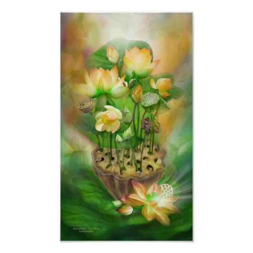 Healing Lotos-Solar Plexus Chakra Art Poster/Print Poster