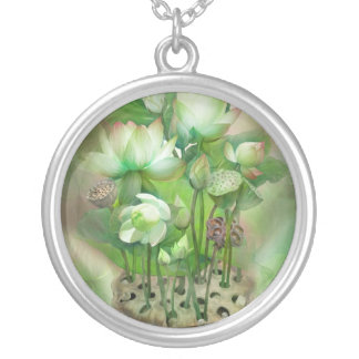 Healing Lotus Heart Chakra Wearable Art Necklace