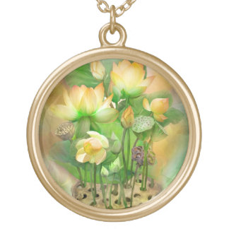 Healing Lotus Solar Plexus Wearable Art Necklace