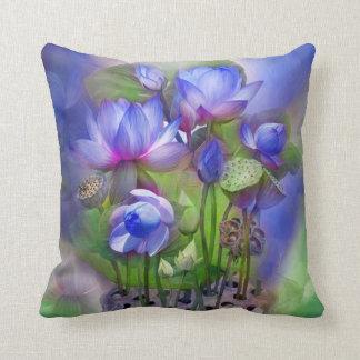Healing Lotus Third Eye Chakra Art Pillow