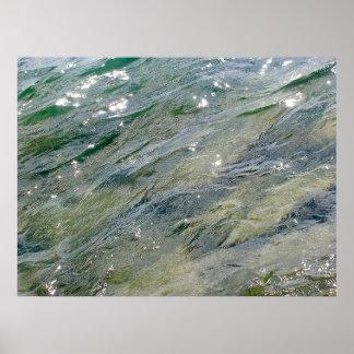 Healing Meditation - Blue Waves Centre Island V13 Print