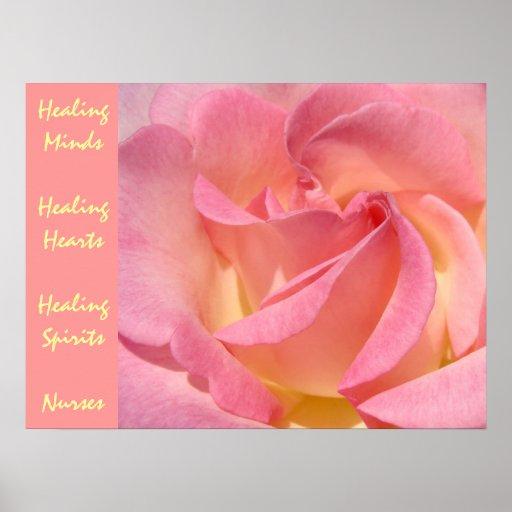 Healing Minds Hearts Spirits Nurses art prints Poster