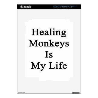 Healing Monkeys Is My Life Decals For iPad 3