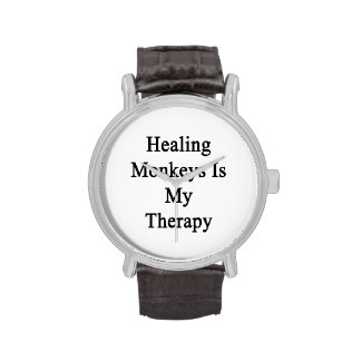 Healing Monkeys Is My Therapy Wristwatches