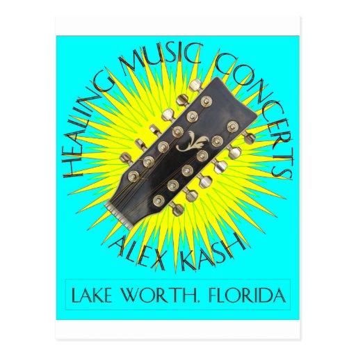 Healing Music Concerts in Lake Worth, Florida Postcard