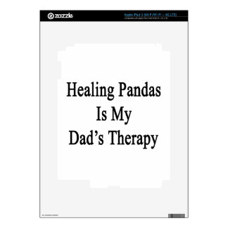 Healing Pandas Is My Dad's Therapy iPad 3 Decals