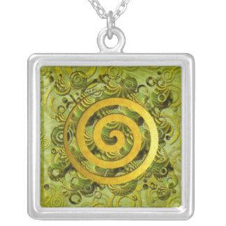 Healing Power Square Pendant Necklace