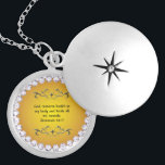 """Healing Prayer Locket Jeremiah 30:17<br><div class=""""desc"""">There is power when we pray God&#39;s word. He said his word will not return void,  but will accomplish what it was meant to. These lockets have healing scriptures in them so you can carry them and say them were ever you go.</div>"""