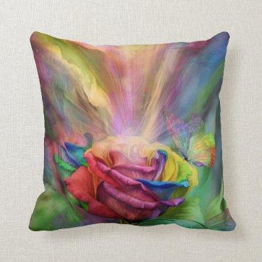Healing Rose Art Decorator Pillow