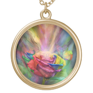 Healing Rose Wearable Art Necklace