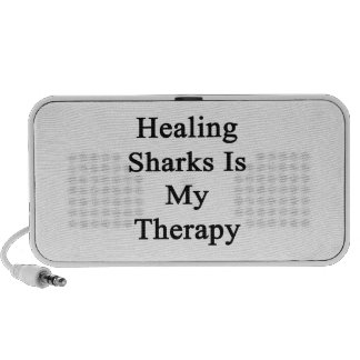 Healing Sharks Is My Therapy iPod Speakers