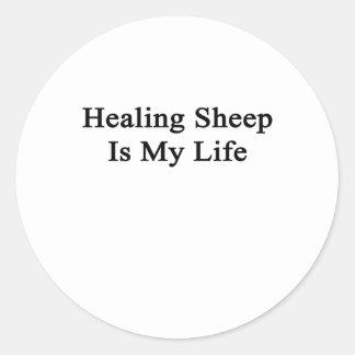 Healing Sheep Is My Life Round Sticker