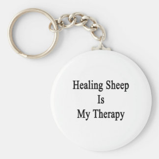 Healing Sheep Is My Therapy Keychain