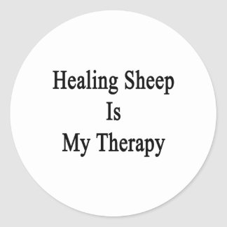 Healing Sheep Is My Therapy Sticker