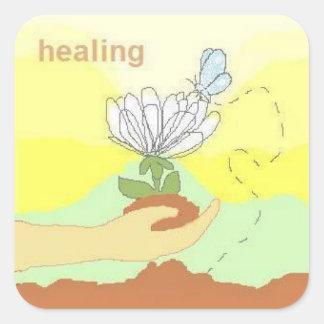 healing square sticker