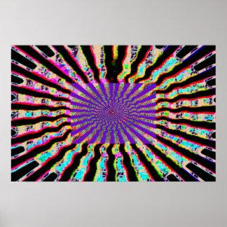 Healing Star -  Solar Plexes Purple Nuclues Poster