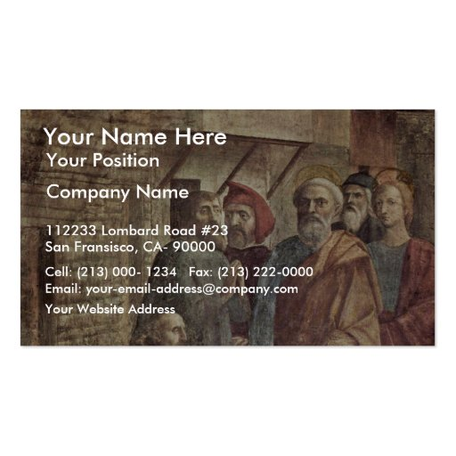 Healing The Shadow Of Peter By Masaccio (Best Qual Business Cards