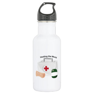 Healing The World 18oz Water Bottle