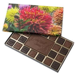 Healing Thoughts Dahlia Flower Chocolate Box