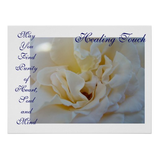 Healing Touch Art gift Purity Heart Soul Mind Rose Print