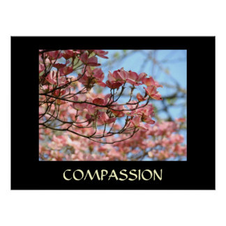 HEALING TOUCH ART gifts COMPASSION Dogwood Flowers Poster