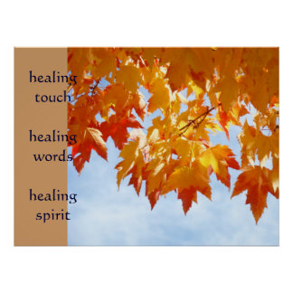 healing touch art healing words prints Nurses