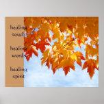 healing touch art healing words prints Nurses Print