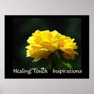 HEALING TOUCH Art INSPIRATIONS Wellness Artwork Poster