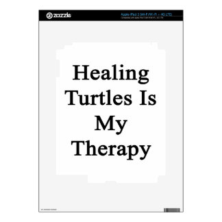 Healing Turtles Is My Therapy Decal For iPad 3