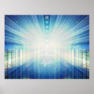 Healing White Light Poster