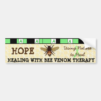 Healing with Bee Venom Therapy Bumper Sticker