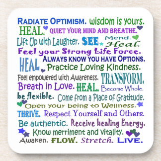 healing word art coaster