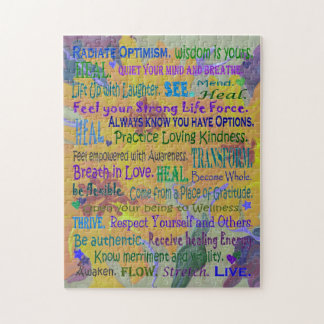 healing words and sunflowers jigsaw puzzle