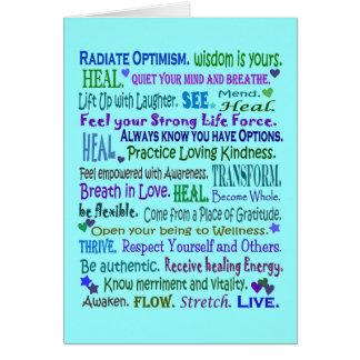 healing words art collage card