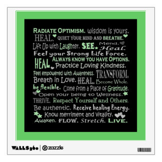 Healing words collage wall sticker