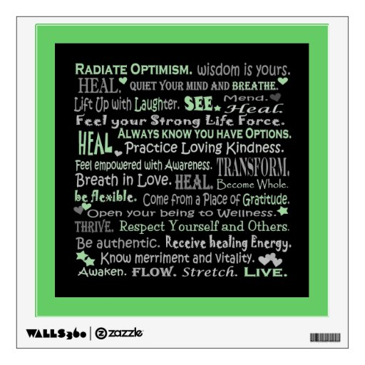 Healing words collage wall decor