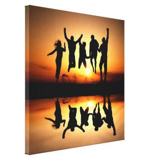 Healinglove abstracto alegre del personalizable de lona estirada galerias