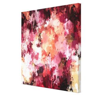 Healinglove floral del arte de la pintura del gote impresión en lienzo estirada
