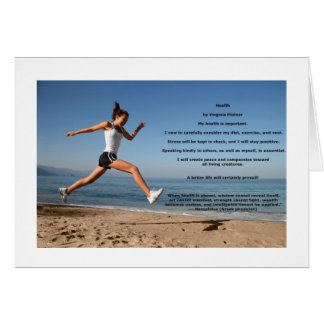 """""""Health"""" affirmation note card (blank)"""
