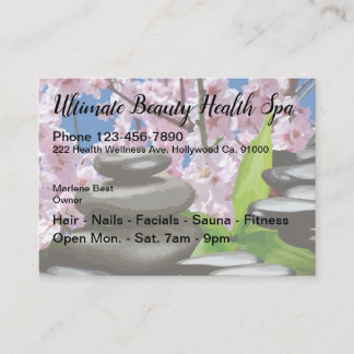 Health And Beauty Cheery Blossoms Design Business Card
