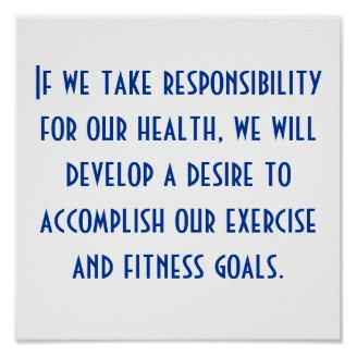 Health and Exercise Motivation Poster