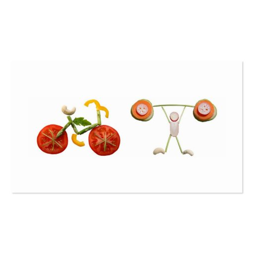 Health and nutrition business cards