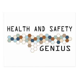 Health and Safety Genius Postcard
