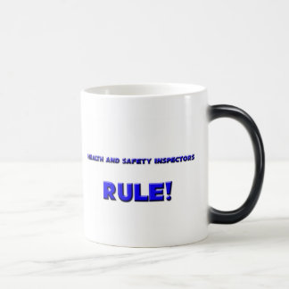 Health And Safety Inspectors Rule! 11 Oz Magic Heat Color-Changing Coffee Mug