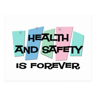 Health and Safety Is Forever Postcard