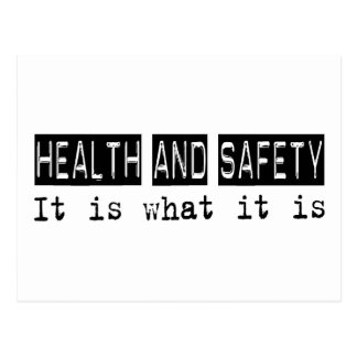 Health and Safety It Is Postcard