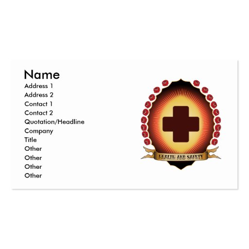 Health and Safety Mandorla Double-Sided Standard Business Cards (Pack Of 100)