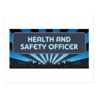 Health and Safety Officer Marquee Postcard